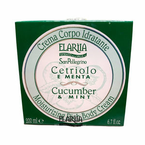 New Elariia x Perlier Cucumber & Mint Moisturizing Rich Body Cream Boxed 6.7 oz